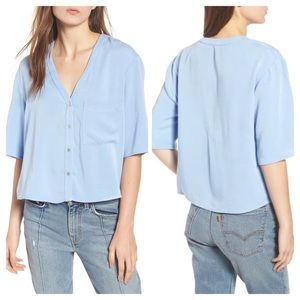 Chloe & Katie Button Down Blouse Size Large